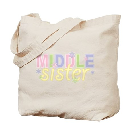 Middle Sister Flowers Tote Bag