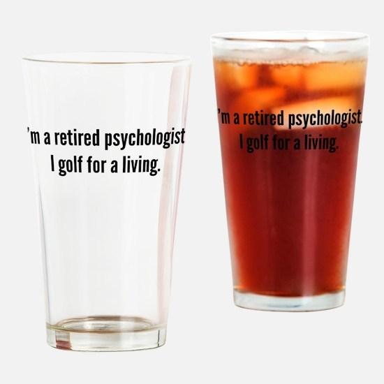 Retired Psychologist Golfer Drinking Glass