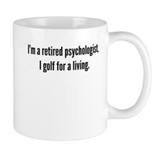 Retired Psychologist Golfer Mugs