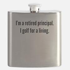 Retired Principal Golfer Flask