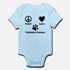 Peace Love Yorkshire Terriers Body Suit
