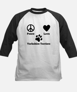 Peace Love Yorkshire Terriers Baseball Jersey
