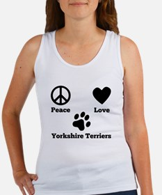 Peace Love Yorkshire Terriers Tank Top