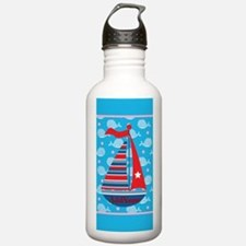 Nautical Pirate Whale Water Bottle