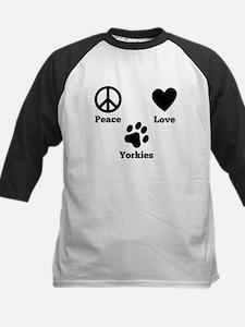 Peace Love Yorkies Baseball Jersey