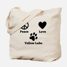 Peace Love Yellow Labs Tote Bag