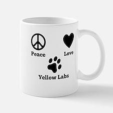 Peace Love Yellow Labs Mugs