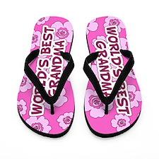 World's Best grandma Flip Flops
