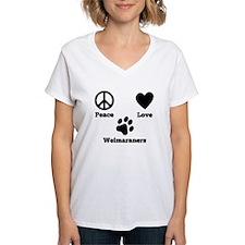 Peace Love Weimaraners T-Shirt