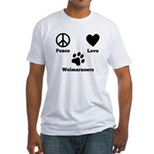 Peace Love Weimaraners T-Shirt