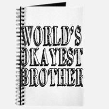 World's Okayest Brother Journal