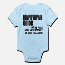 Introverts Unite Infant Bodysuit