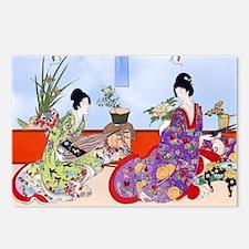 Geisha Musicians, Kimonos Postcards (Package of 8)