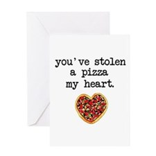 Pizza my Heart Greeting Cards