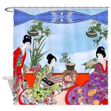 Geisha, Musicians, Kimonos ! Shower Curtain