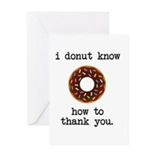 Donut Know How to Thank You Greeting Cards