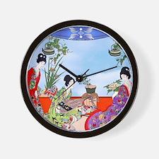 Geisha, Musicians, Kimonos ! Wall Clock