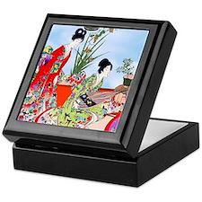 Geisha, Musicians, Kimonos ! Keepsake Box
