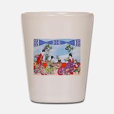 Geisha, Musicians, Kimonos ! Shot Glass