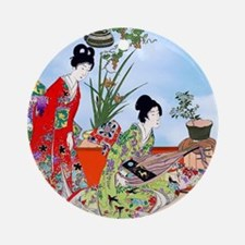 Geisha, Musicians, Kimonos ! Ornament (Round)