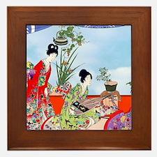 Geisha, Musicians, Kimonos ! Framed Tile