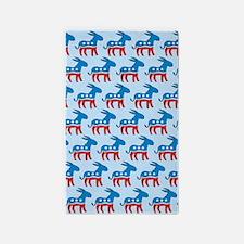 Democrat Donkey Area Rug