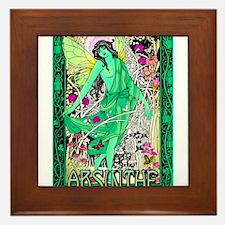 Absinthe Green Fairy Framed Tile