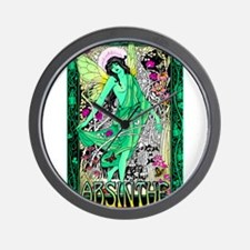 Absinthe Green Fairy Wall Clock