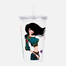 Fashion Girl Acrylic Double-wall Tumbler