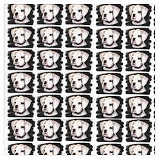White Boxer Puppy Poster