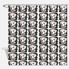 White Boxer Puppy Shower Curtain