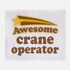 Awesome Crane Operator Throw Blanket