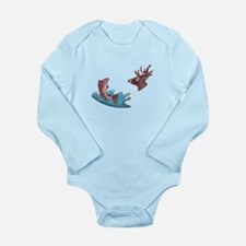 deer head and trout Long Sleeve Infant Bodysuit