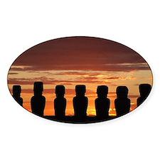 Easter Island Moai at Sunrise Decal