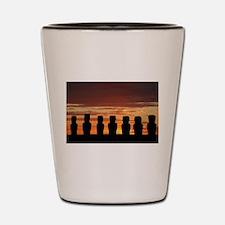 Easter Island Moai at Sunrise Shot Glass