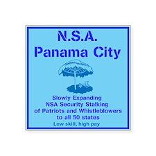"NSA Panama City Square Sticker 3"" x 3"""