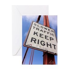 Unique Slower traffic keep right Greeting Card