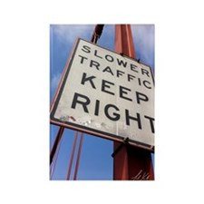 Cute Slower traffic keep right Rectangle Magnet