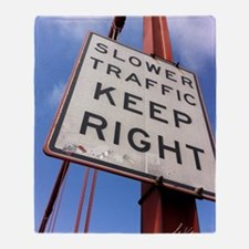 Unique Traffic sign Throw Blanket