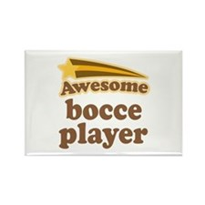 Awesome Bocce Player Rectangle Magnet