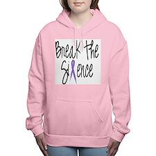 Speak Out, ribbon Women's Hooded Sweatshirt