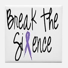 Speak Out, ribbon Tile Coaster