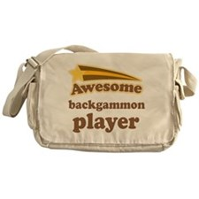 Awesome Backgammon Player Messenger Bag