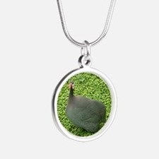 guineas on patrol Silver Round Necklace