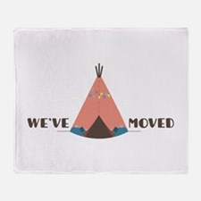 We've Moved Throw Blanket