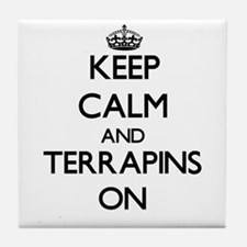 Keep calm and Terrapins On Tile Coaster
