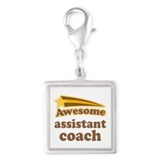 Awesome Assistant Coach Silver Square Charm