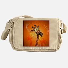 Funny cartoon giraffe Messenger Bag