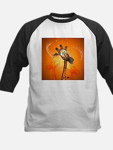 Funny cartoon giraffe Baseball Jersey