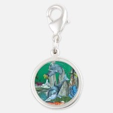 Funny playing dolphins with other fish Charms